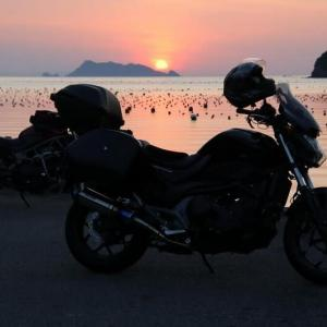 津島町塩定の夕陽