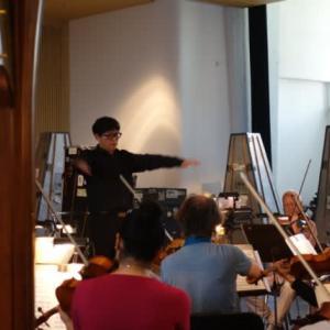 ベルリン交響楽団とのオーケストラ合わせ