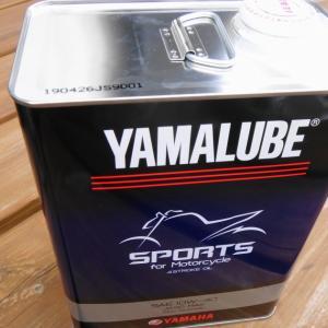 エンジンオイルを交換する2019(YAMALUBE Sports 部分合成油)