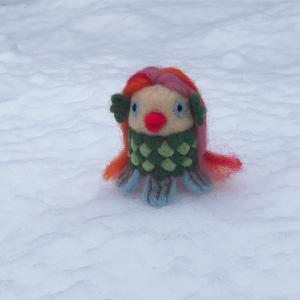♪アマビエ様と季節外れの雪
