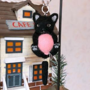 ♪黒猫バックチャーム作りました