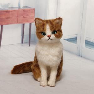 ♪茶白猫が完成しました