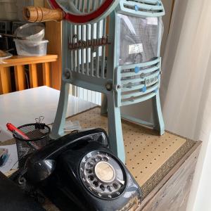 主夫の毎日 黒電話とレトロなかき氷機
