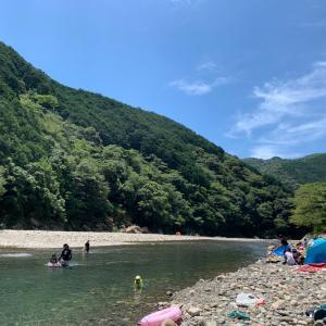 主夫の毎日 今年初の川遊び