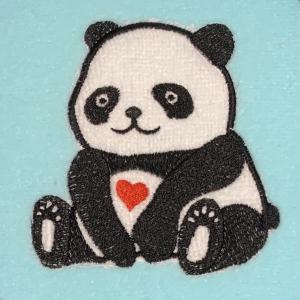 パンダの刺繍♪