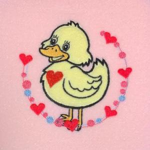 ハートと水玉のフレーム刺繍♪