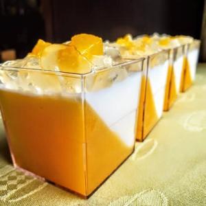 杏とミルクのゼリー