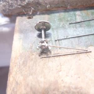 ネックレスのリメイク ダイヤのピアス (2)