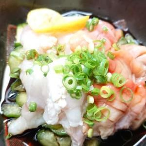 シマフグと赤貝の酢の物