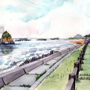 磯浜海岸二つ島(2019/8/10)