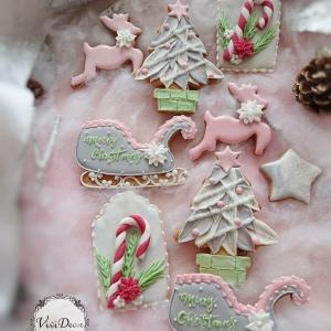 【募集】12月度ピンク×グレークリスマスアイシングクッキーレッスン♪