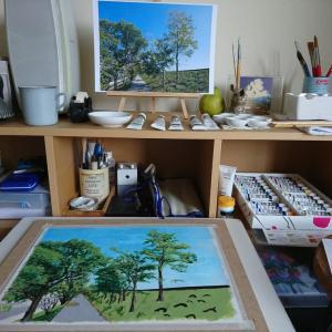 はじめてのアクリル画 「色を作ること」~大野洋平先生絵画教室@いの町CafeClef(カフェ・クレフ)