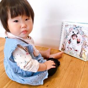 娘の1歳お誕生日記念のアルバム完成しました♪