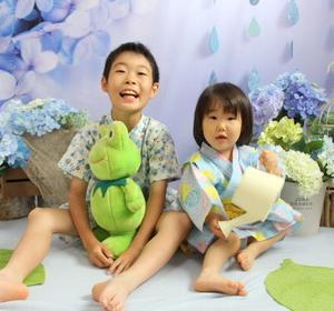 紫陽花のフォトブース ♪