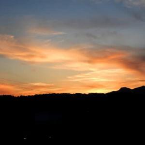 (続)定点撮影 5月の夕焼雲