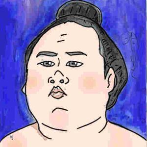 似顔絵・明生・大相撲力士