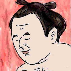 似顔絵・玉鷲・大相撲力士