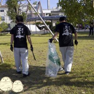 ゴミゼロ運動 5月30日 志布志市の飲み屋街中心地、志布志銀座街と志布志駅の清掃を行いました♪