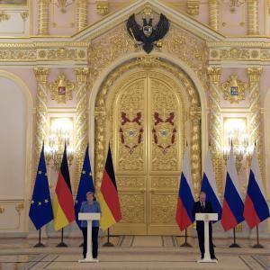 メルケル、モスクワ訪問