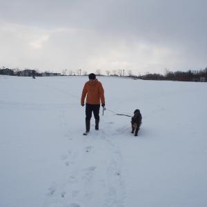 初めての公園で雪あそび♪