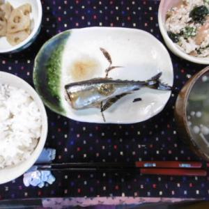 焼き秋刀魚定食