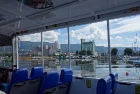 バス諏訪湖を行く!