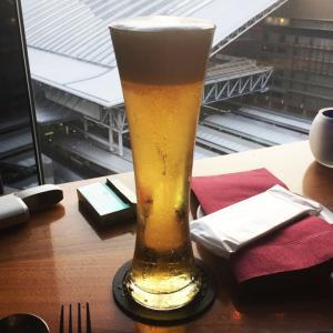 梅田阪急15階❤️ウニでお酒が進みます(∩´∀`∩)夜景が綺麗なブルーバード