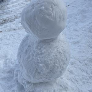 ノッペラボウの雪だるま