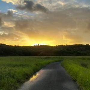 東のそらから朝日が