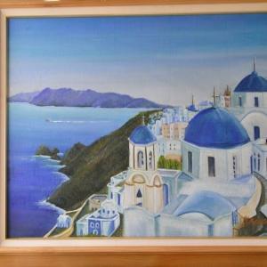 旅の思い出に描いた油彩画(その2)