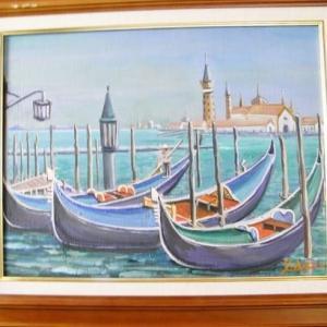 旅の思い出に描いた油彩画(SONO6)