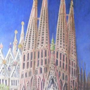 旅の思い出に描いた油彩画(その14)
