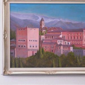 旅の思い出に描いた油彩画(その17)