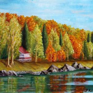 旅の思い出に描いた油彩画(その24)