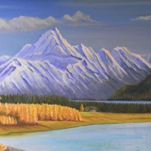 旅の思い出に描いた油彩画(その25)