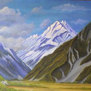 旅の思い出に描いた油彩画(その26)