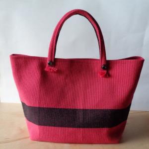 ウールの織帯でバッグ作る