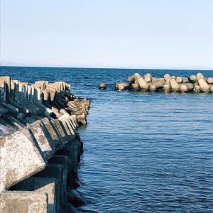 海の砦とテトラポッド