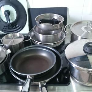 調理器具をお気に入りの精鋭まで減らす