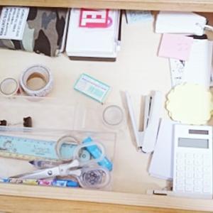 学習机の引出しはゆるく仕切る収納グッズで。選び方のコツ。