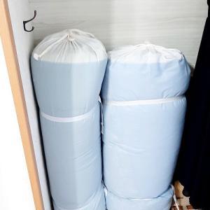 綺麗に立てれる布団収納「ふろ敷収納」