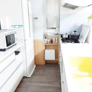 リビングのリフォーム◆キッチンのクッションフロア完成