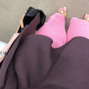 ブラウン×ピンク♡顔タイプエレガントの晩夏コーデ