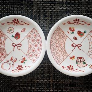 九谷焼赤絵風小皿