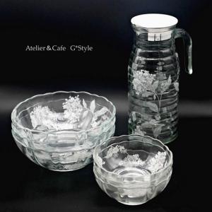【ポーセラーツ】生徒さま作品 涼やかなガラスの器たち♡