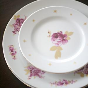【ポーセラーツ】生徒さま作品 お花のプレートセット