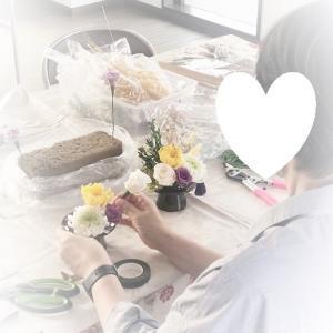 フラワーアレンジレッスン♥「仏花アレンジ」