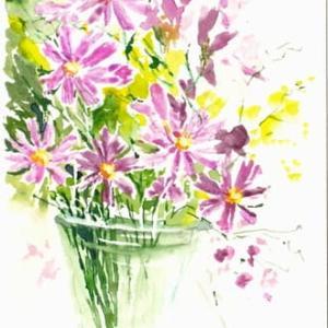 絵の練習(花と葉っぱのパクリ)