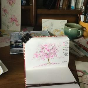 綿棒作品(桜)