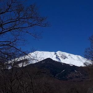 昼と夕方の御嶽山